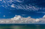 """Постер, картина, фотообои """"Peaceful sea and cloudy blue sky. Horizon line. """""""