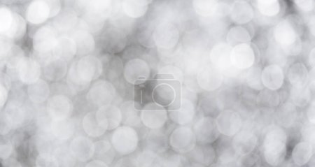 Photo for Grey bokeh with white color abstract background can be use as wallpaper - Royalty Free Image