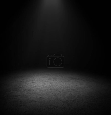 Dark Floor Background Black Empty Space for display your products, black Concrete Surface Ground Texture.
