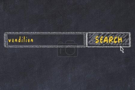 Photo pour Schéma au tableau de la fenêtre du navigateur de recherche et de l'inscription. - image libre de droit