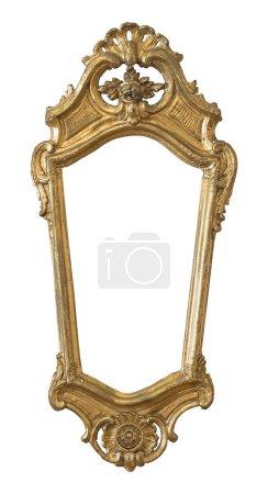 Photo pour Cadre doré pour peintures, miroirs ou photo isolé sur fond blanc. Élément de conception avec chemin de coupe - image libre de droit