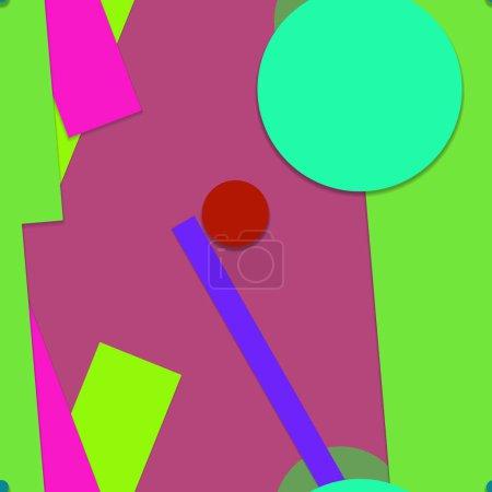 Photo pour Couverture brillante avec des formes géométriques, papier peint recto-verso - image libre de droit