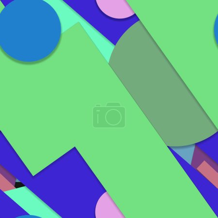 Photo for Bright geometric shapes cover blank - Royalty Free Image