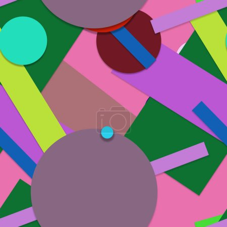 Flat material design, Creative trendy seamless background