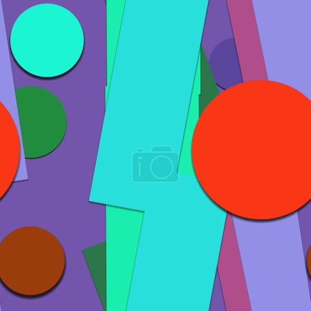 Photo for Bright colorful geometric shapes background - Royalty Free Image