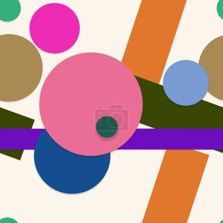 Foto de Formas geométricas brillantes de color fondo - Imagen libre de derechos
