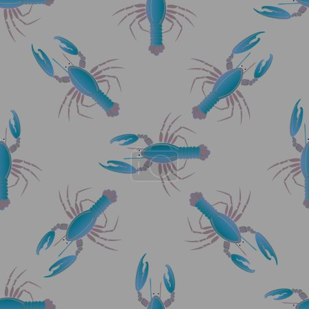 Summer background  with lobsters, vector illustrat...