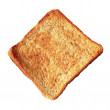 A slice of toast bread isolated on white backgroun...