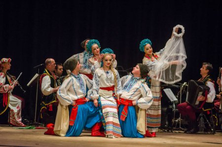 DNIPRO, UKRAINE - NOVEMBER 7, 2018: National tradi...