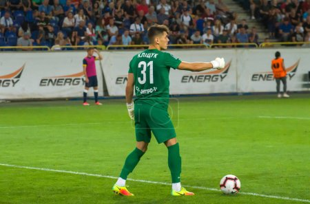 DNIPRO, UKRAINE - JULY 31, 2019: SC Dnipro-1 goalk...