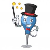 Magician clyster mascot cartoon style vector illustration