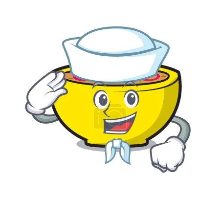 Sailor soup union character cartoon vector illustr...