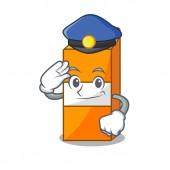 Police package juice character cartoon