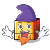 Elf rubik cube character cartoon