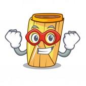 Super hero corn tamales shape on the cartoon vector illustration