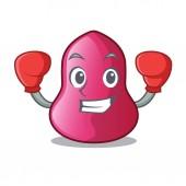 Boxing sponge makeuop in the cartoon form vector illustration