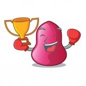Boxing winner sponge makeuop on the a cartoons vector illustration