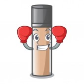Boxing makeup foundation isolated with on character vector illustration
