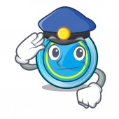 Police frisbee in the shape a mascot