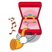With trumpet wedding ring box tables makeup cartoon