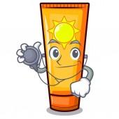 Doctor sun cream in the mascot shape