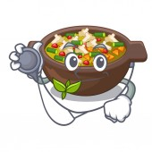 Doctor minestrone isolated with in the cartoon