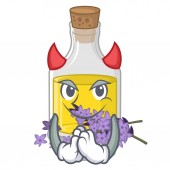 Devil lavender oil in the character shape