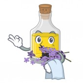 Waiter lavender oil in the character shape