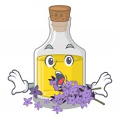 Surprised lavender oil in the character shape