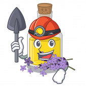 Miner lavender oil in the character shape