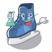 Professor ice skate in the cartoon shape