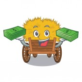 With money bag cartoon hayride toy in a drawer