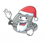 Santa hole puncher in the cartoon shape