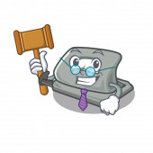 Judge hole puncher in the cartoon shape