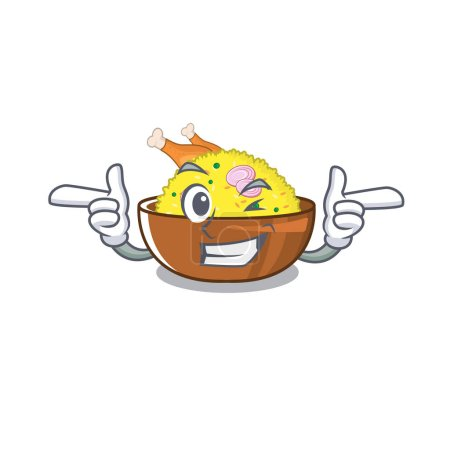 Wink chicken biryani cooked in character skillet