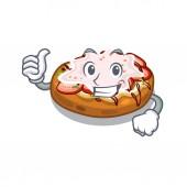 Thumbs up bruschetta in the a cartoon lunchbox