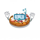 Diving bruschetta in the a cartoon lunchbox