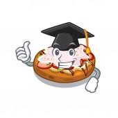 Graduation bruschetta in the a cartoon lunchbox