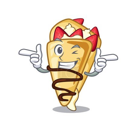 Wink crepe with in the cartoon shape