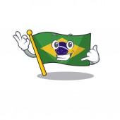 Call me brazil flag kept in mascot drawer