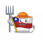 Farmer flag chile cartoon in character shape