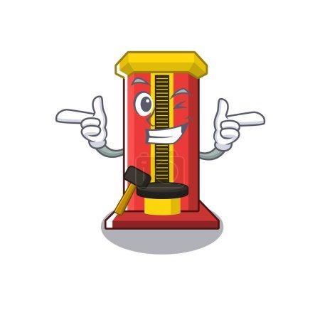 Wink hammer game machine in the cartoon