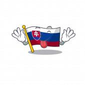 Tongue out flag slovakia folded the cartoon drawer