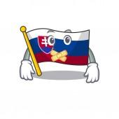 Silent flag slovakia folded the cartoon drawer