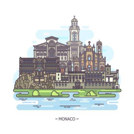 Monaco famous municipal and religious