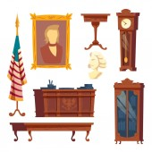 Vector collection - white house oval office furniture