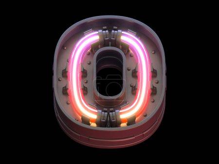 Photo pour Fonte futuriste avec lumières ultra néons. - image libre de droit