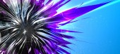 Abstract bright futuristic flower