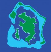 Bora Bora island vector map isolated on blue background High detailed silhouette illustration
