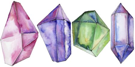 Colorful diamond rock jewelry mineral.